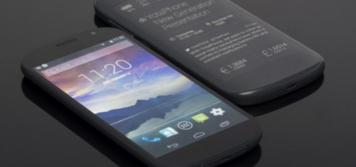YotaPhone with a 5-inch front screen - front and back side