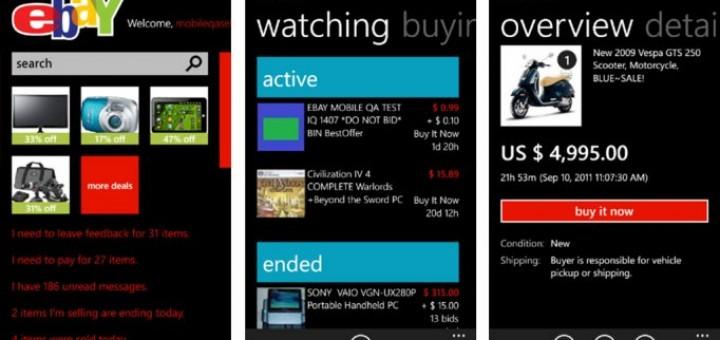 eBay app for Windows Phone