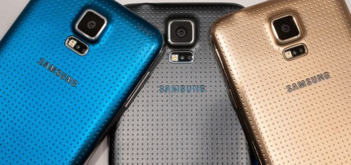 Samsung Galaxy S5 back sides all colors