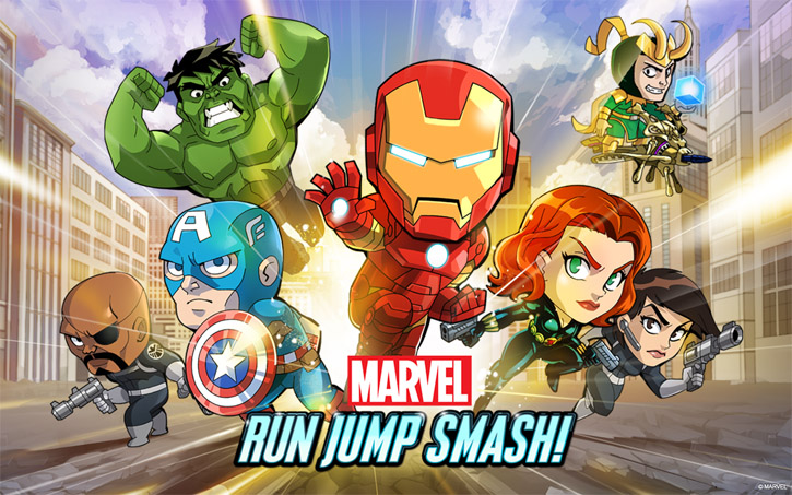 marvel run jump smash for android features many iconic