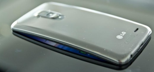 LG G Flex smartphone back side