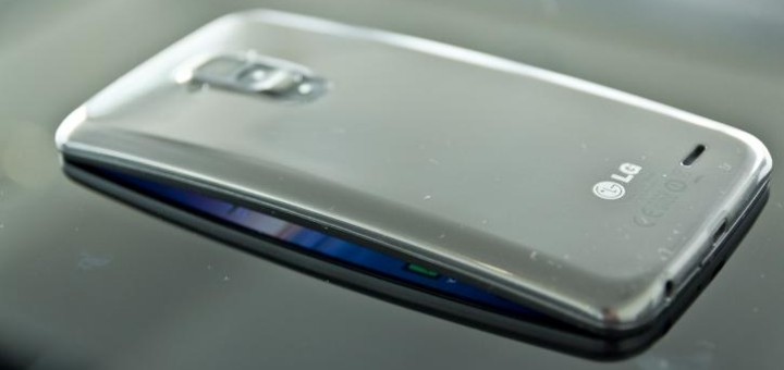 LG G Flex smartphone back side